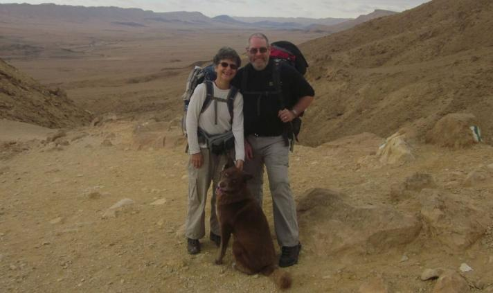 Diana, Don and Taffy almost down in the Ramon Crater