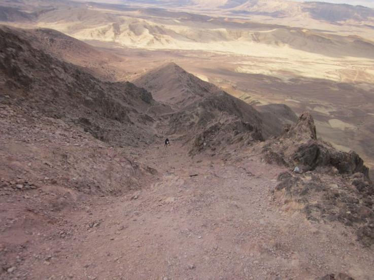 Walking up Shen Ramon in the Ramon crater
