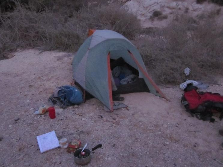 Camp on the edge of Ein Shaviv