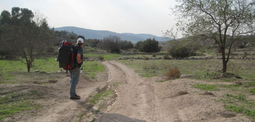 Don looking over the Bet Shemesh Hills national park