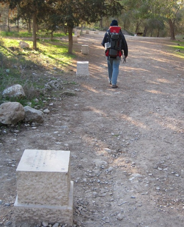 Engraved blocks on the path going south away from Tel Azeka