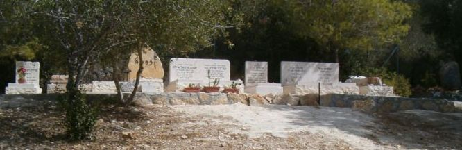 Cemetery with water before Ein Hod