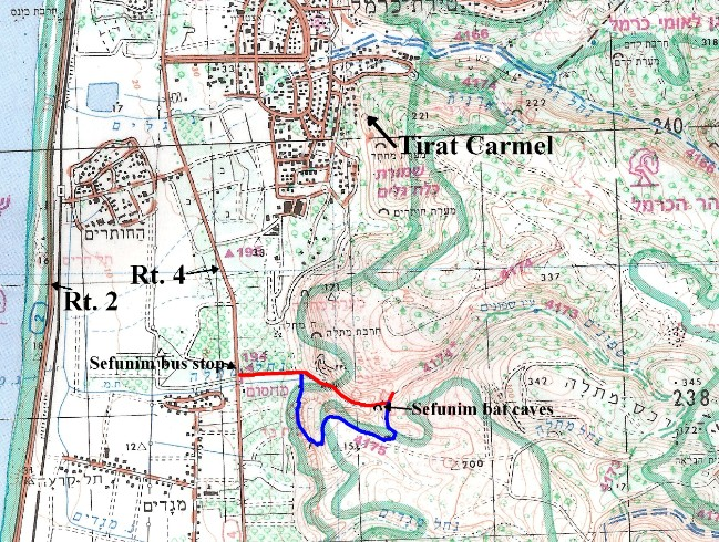Map of the hike and surrounding area