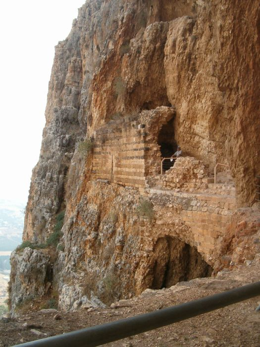 17th century the Druze Castle in cliffs of Mount Arbel