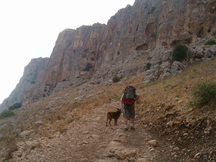 Steep path to the Arbel cliffs