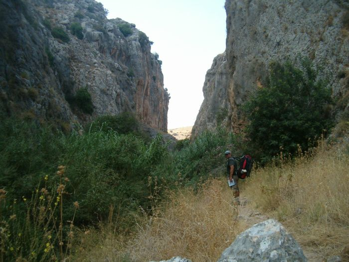Don on Trail in Wadi Amud