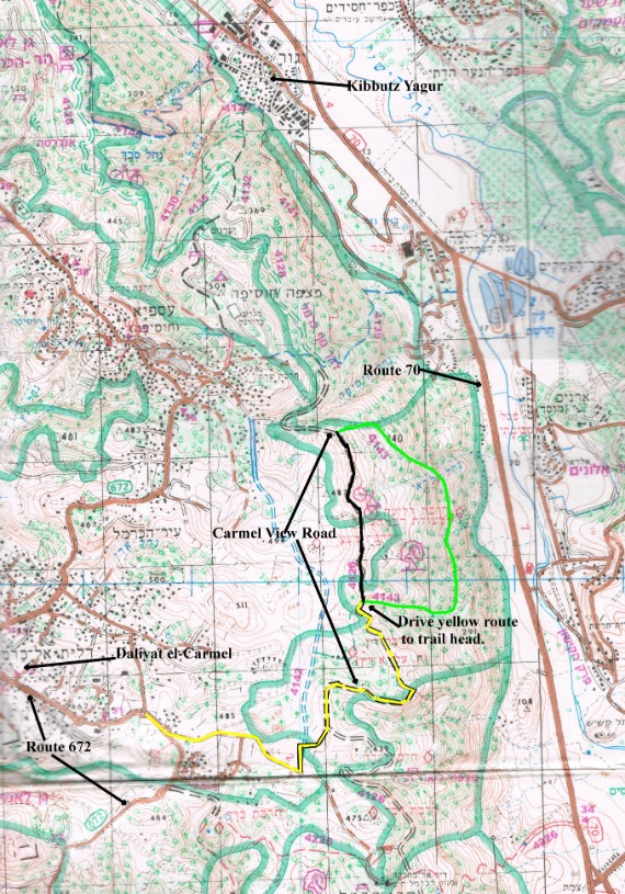 annotated map of the hike